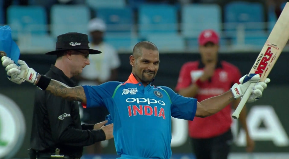 Shikhar Dhawan scored 127 against Hong Kong