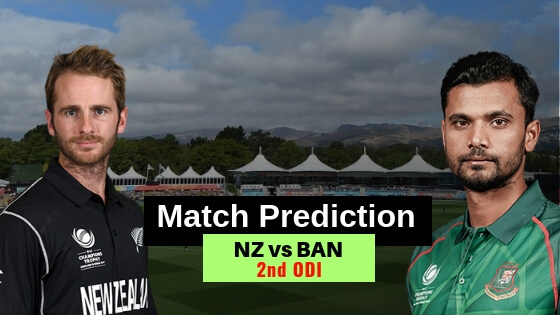 New Zealand vs Bangladesh 2nd ODI Match Prediction