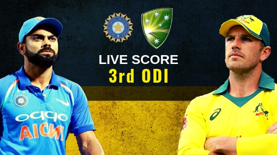 India vs Australia 3rd ODI Live Score ball by ball commentary