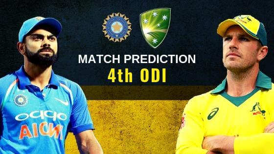 India v Australia 4th ODI Match Prediction