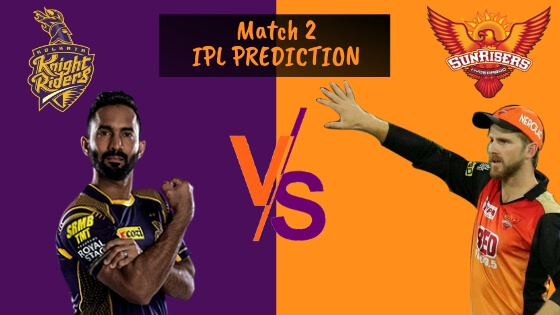 IPL 2019 Match 2 Prediction, KKR vs SRH Match Prediction