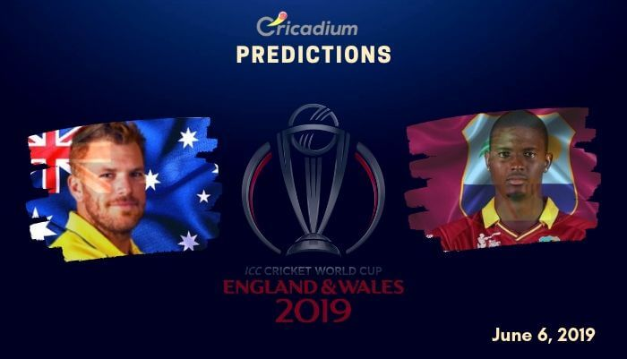 ICC World Cup 2019 Match 10 Australia vs West Indies Match Prediction Who Will Win Today