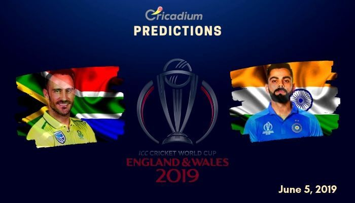 ICC World Cup 2019 Match 8 South Africa vs India Match Prediction Who Will Win Today