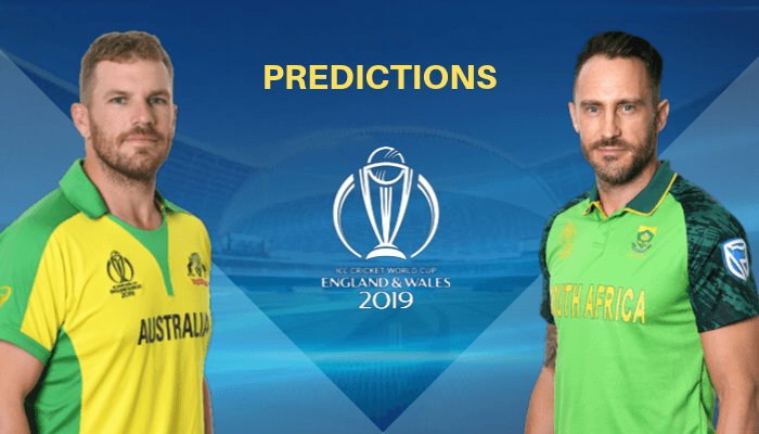 ICC World Cup 2019 Match 45 Australia vs South Africa Match Prediction Who Will Win Today