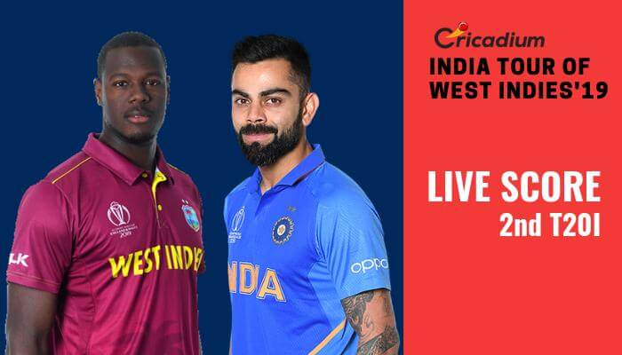 India tour of West Indies, 2019: WI vs IND 2nd T20I Live Score