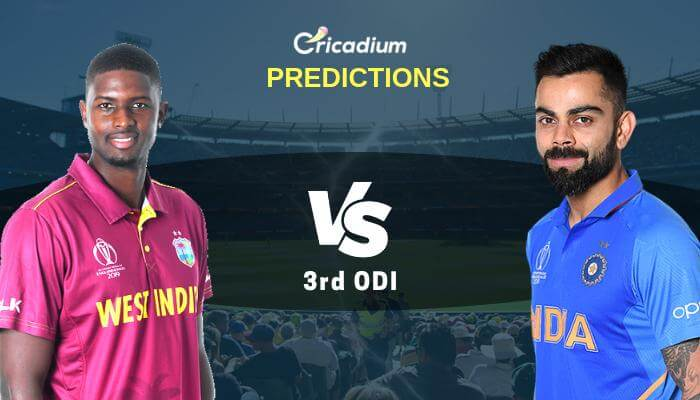 India tour of West Indies, 2019 3rd ODI WI vs IND Match Prediction Who Will Win