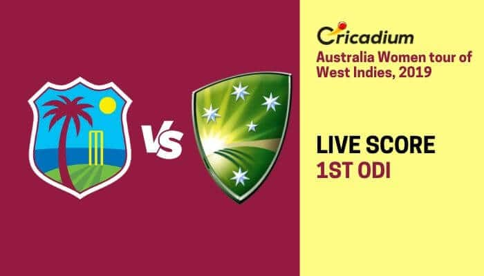 West Indies Women vs Australia Women 1st ODI Live Cricket Score