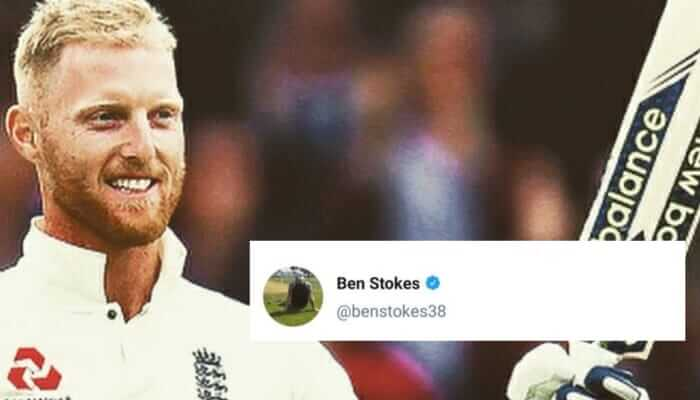Ben Stokes took to twitter to troll Rohit Sharma