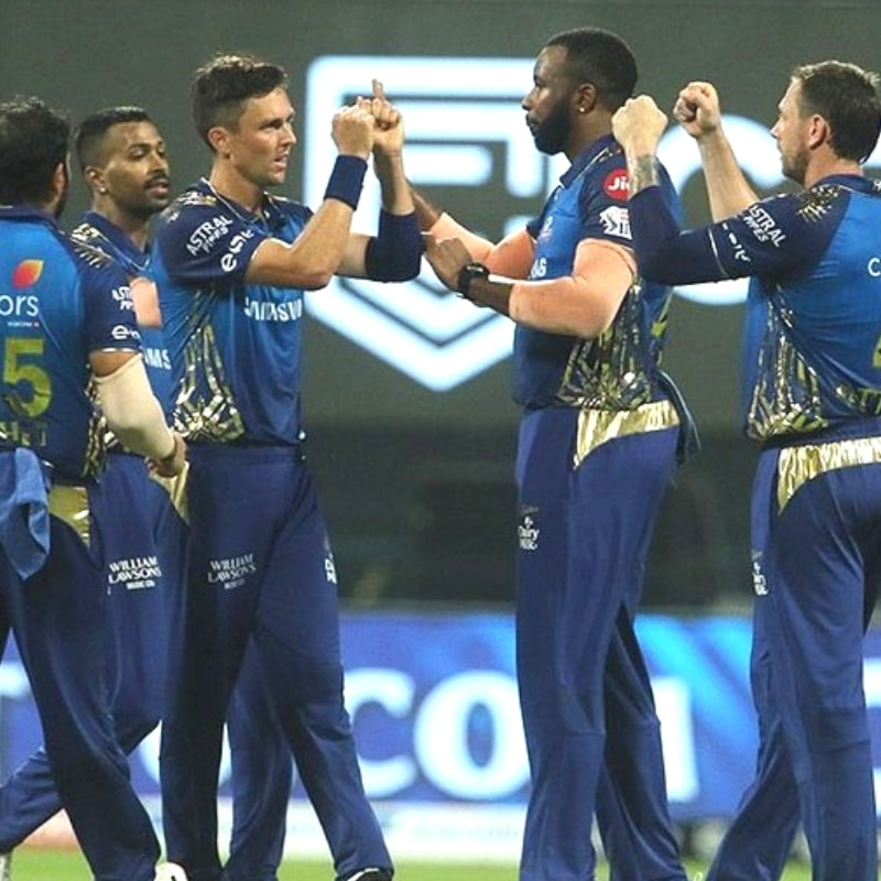 Mumbai Indians are at the 5th position with 2 points.