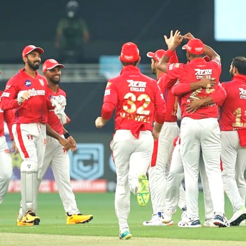 Kings XI Punjab is at the 4th position in the points table with 2 points.