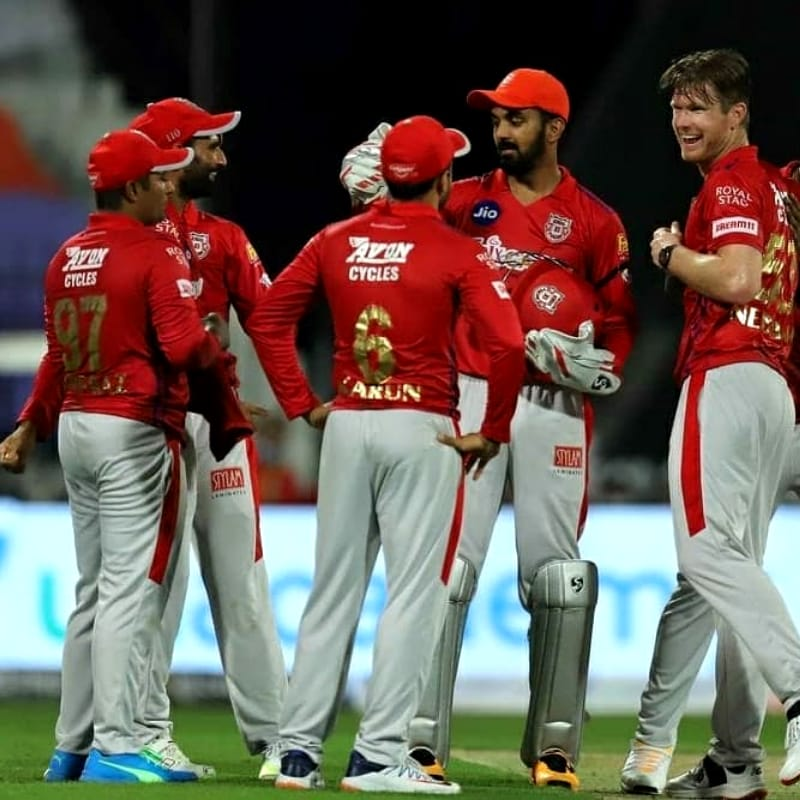Kings XI Punjab are at the 6th position with 6 points