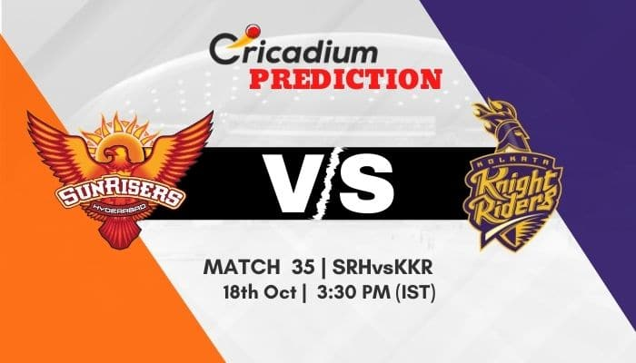 IPL 2020 Match 35 SRH vs KKR Match Prediction Who Will Win Today