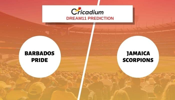 BAR vs JAM Dream11 Team: Super50 Cup 2021 Match 14 Barbados Pride vs Jamaica ScorpionsDream11