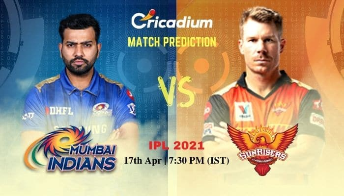 MI vs SRH Match Prediction Who Will Win Today IPL 2021 Match 9